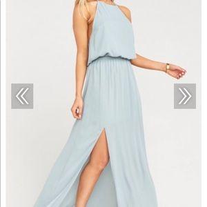 Show Me Your MuMu XL Heather Chiffon Halter Gown